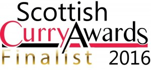 The Scottish Curry Awards 2016 - FINALIST E-BADGE