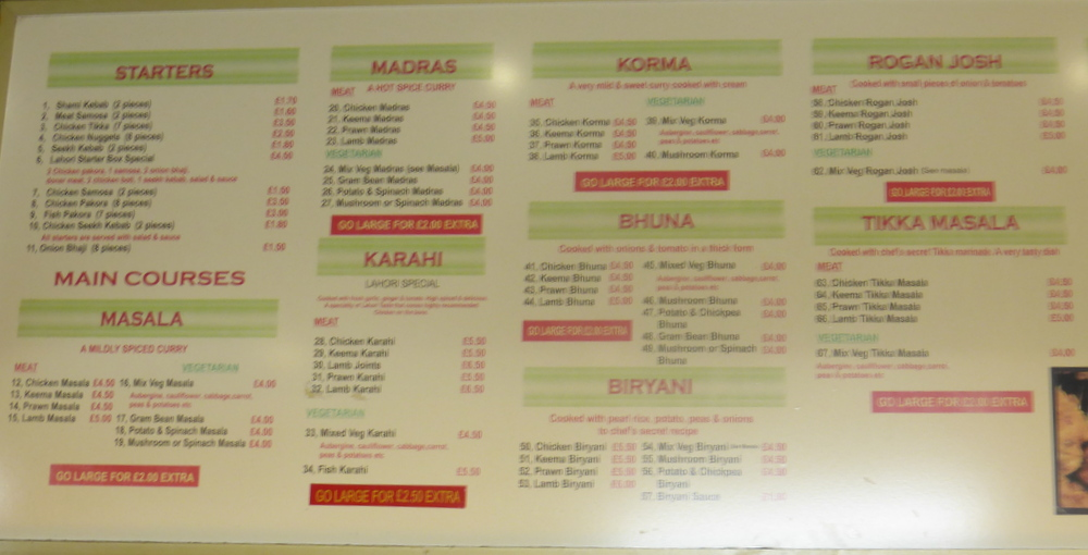 Huddersfield Lahori Taste The Joy Of Curry Curry Heute