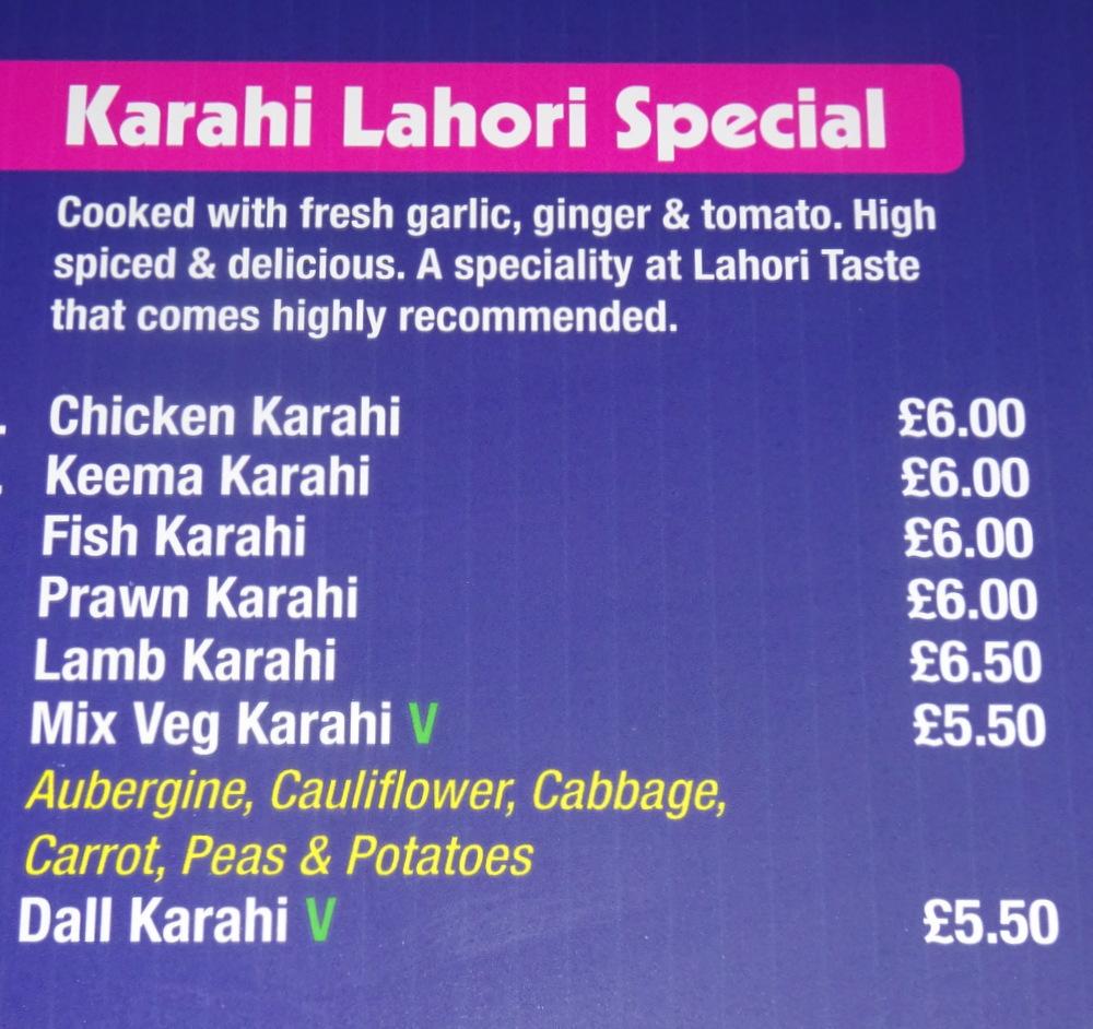 Lahori Taste Huddersfield England Curry Heute